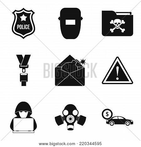 Atrocity icons set. Simple set of 9 atrocity vector icons for web isolated on white background