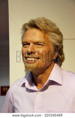London, - United Kingdom, 08, July 2014. Madame Tussauds in London. Waxwork statue of Richard Branson