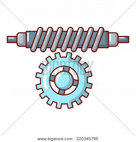 Worm gear icon. Cartoon illustration of worm gear vector icon for web.