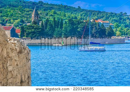 Scenic view at Vis island sailing destination in Southern Croatia, european travel destinations.