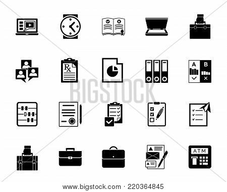 Business documents icon set. Can be used for topics like office, contract, agreement, report