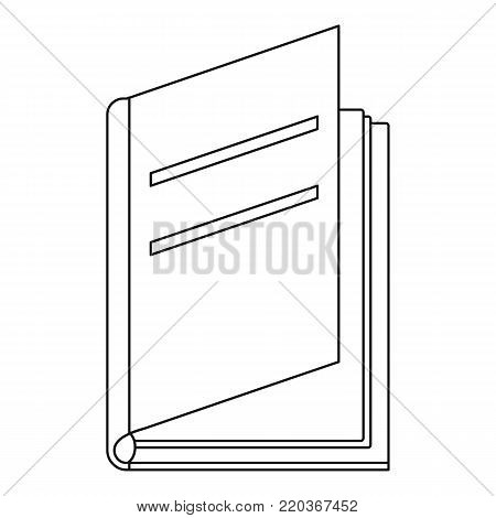 Textbook icon. Outline illustration of textbook vector icon for web