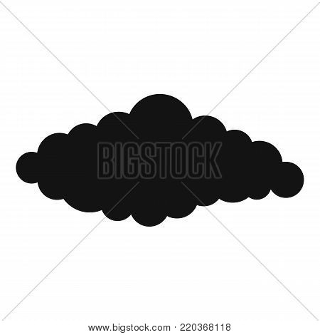 Fluffy cloud icon. Simple illustration of fluffy book vector icon for web