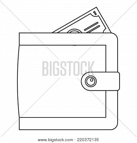 Big wallet icon. Outline illustration of big wallet vector icon for web