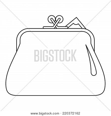 Small wallet icon. Outline illustration of small wallet vector icon for web
