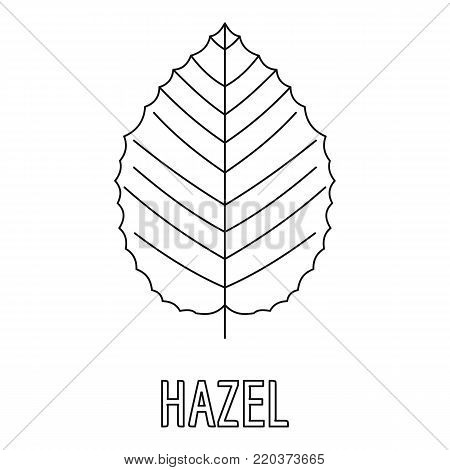 Hazel leaf icon. Outline illustration of hazel leaf vector icon for web