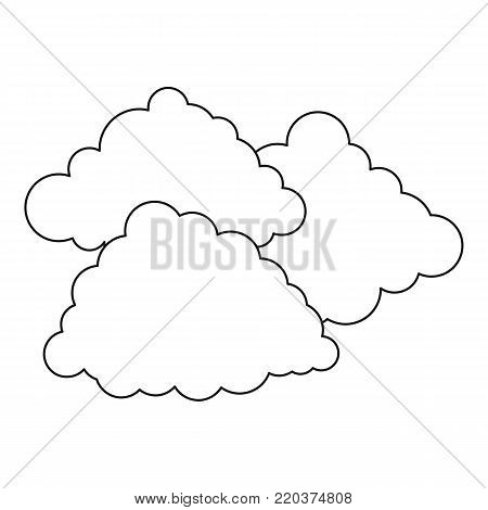 Cloudy weather icon. Outline illustration of cloudy weather vector icon for web