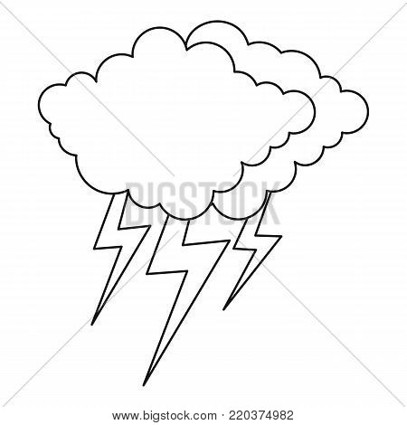 Lightning icon. Outline illustration of lightning vector icon for web