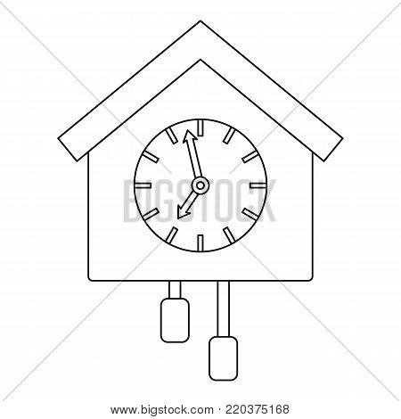 Cuckoo clock icon. Outline illustration of cuckoo clock vector icon for web