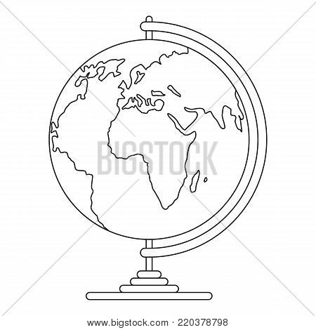 Geography icon. Outline illustration of geography vector icon for web