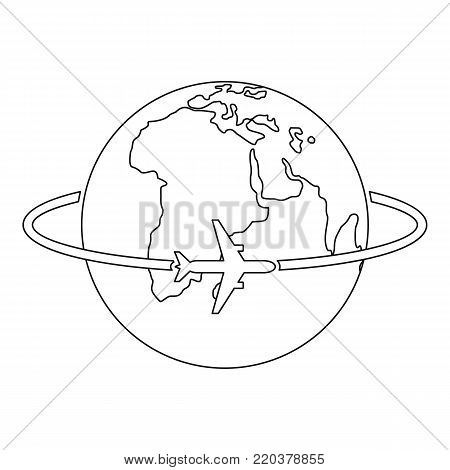 Worldwide icon. Outline illustration of worldwide vector icon for web