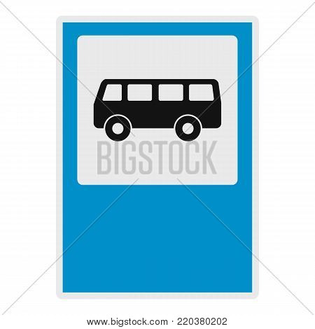 Bus stop icon. Flat illustration of bus stop vector icon for web.