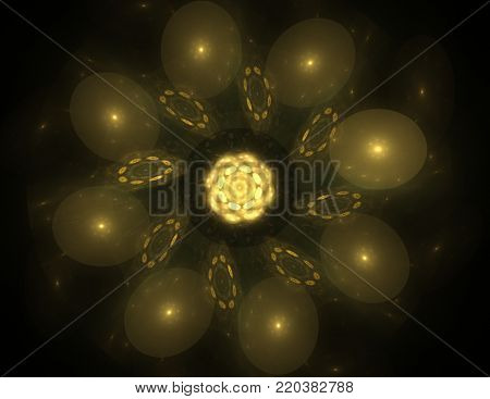 Colorful glowing neuron fractal on bkack background