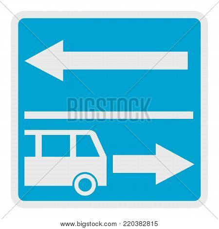 Road for route vehicle icon. Flat illustration of road for route vehicle vector icon for web.