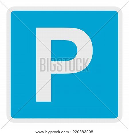 Parking place icon. Flat illustration of parking place vector icon for web.