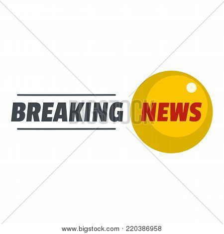 Breaking news icon. Flat illustration of breaking news vector icon for web.