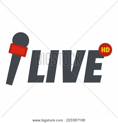 Live icon. Flat illustration of live vector icon for web.ew icon, flat style.