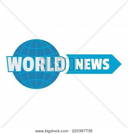 World important news icon. Flat illustration of world important news vector icon for web.
