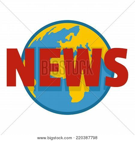 Hot news icon. Flat illustration of hot news vector icon for web.