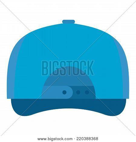 Baseball cap back icon. Flat illustration of baseball cap back vector icon for web.