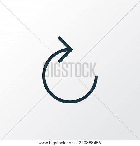 Reload icon line symbol. Premium quality isolated refresh right element in trendy style.