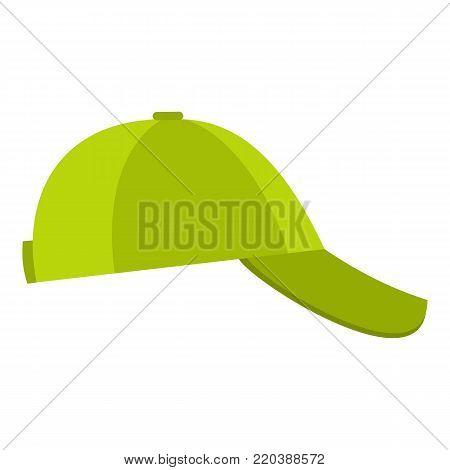 Baseball cap on side icon. Flat illustration of baseball cap on side vector icon for web.