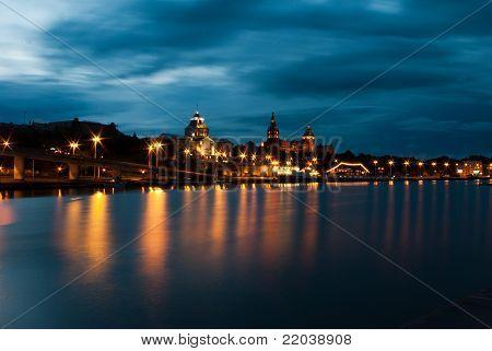Szczecin in the night