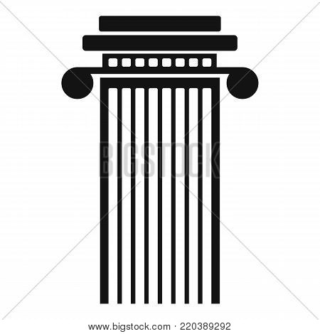 Cylindrical column icon. Simple illustration of cylindrical column vector icon for web.