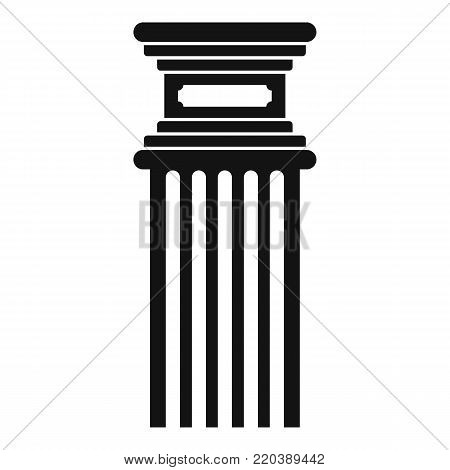 Antique column icon. Simple illustration of antique column vector icon for web.
