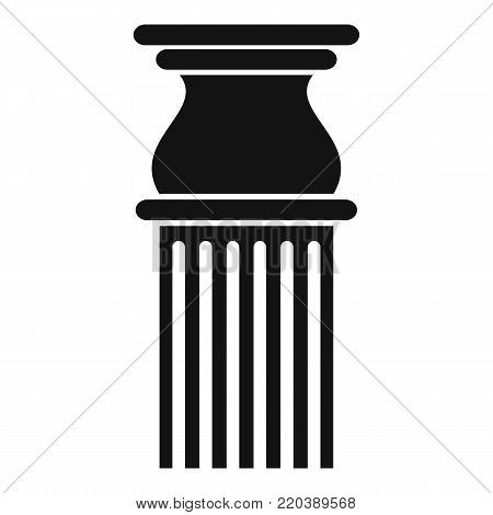 Classical column icon. Simple illustration of classical column vector icon for web.