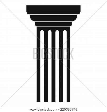 Triangular column icon. Simple illustration of triangular column vector icon for web.