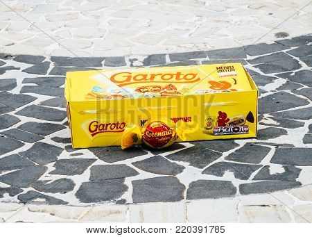 Rio de Janeiro, Brazil - January 2nd, 2018: Illustrative Editorial of Garoto Bon Bon a favorite amongst Brazilians is commonly received as a gift on almost any occasion.
