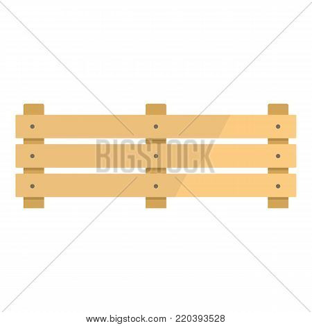 Wide fence icon. Flat illustration of wide fence vector icon for web.