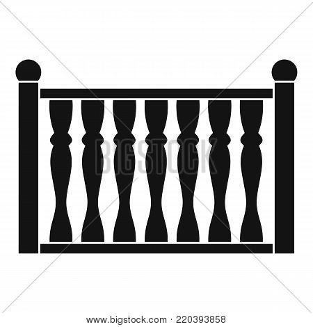 Fence with column icon. Simple illustration of fence with column vector icon for web.