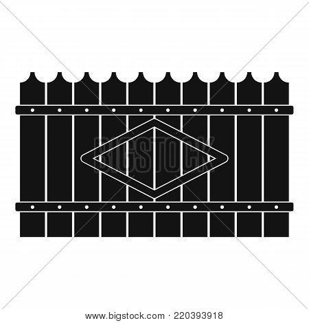 Wooden peak fence icon. Simple illustration of wooden peak fence vector icon for web.