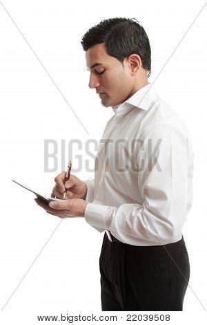 Businessman Or Waiter