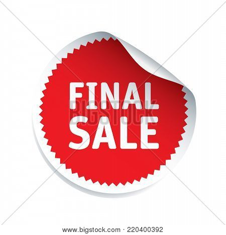 Red Sticker with text FINAL SALE. Vector Illustration and graphic element.