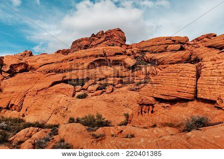 Landscape of Red Rocks at Red Rock Canyon, Southern Nevada, USA