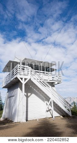 Girard Fire Lookout - White Cabin - Clouds