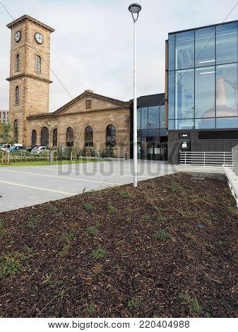 Glasgow, Scotland - October 17, 2017: Recently opened Clydeside Distillery in Glasgow, 2017