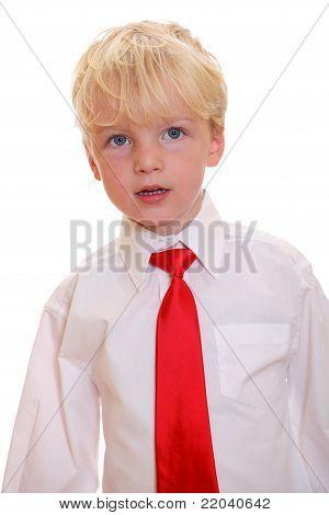 Boy Wearing A Tie