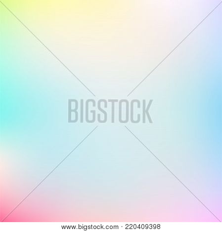Pastel Multi Color Gradient Vector Background, Simple form and blend of color spaces as contemporary background graphic.