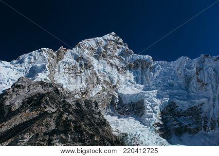 Amazing nice mountains on Himalayas around Nepal.