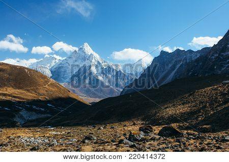 Amazing nice mountains on Himalayas - Nepal.
