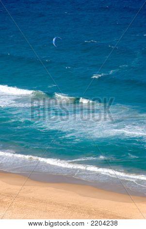 Ocean, Beach, And A Parasurfer