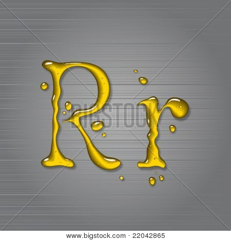 Vector fluid oil letter