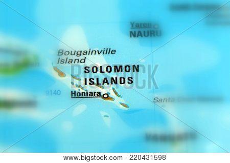 Island State Solomon Islands in the Island State Solomon Islands (selective focus)