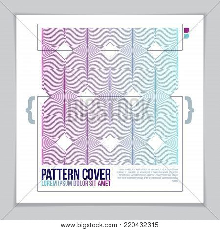 Background for a flyer with geometric pattern. Vector geometric pattern abstract background. Abstract striped textured geometric design.