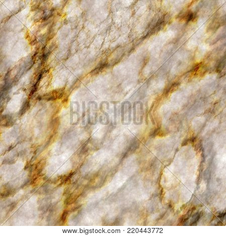 A seamless precious marble texture with gold veins.