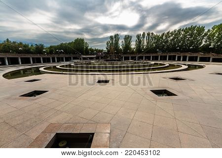 Editorial: Fountain At First President's Park In Almaty, Kazakhstan